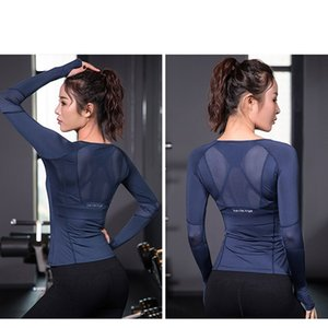 Seamless Gym t-shirt Workout Clothes Women Long Sleeve Tops Fitness Sports Wear Gym Clothing Quick Dry Sport