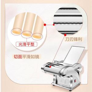 Elétrica Noodle Press Machine Pasta Criador pequena Comercial de aço inoxidável Massa Cortador Dumplings Noodles de rolos para uso doméstico