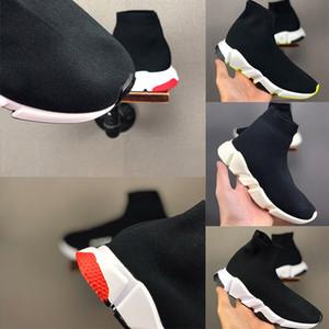 Balenciaga Kid Sock shoes Luxury Brand работает кроссовки ботинки малыша мальчика и девочки шерсти трикотажные спортивные носки обувь 24-35