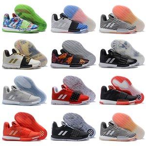 Sale barato Harden vol. 3 MVP de baloncesto zapatillas de deporte zapatos para hombre que teje negro gris rojo James Harden 3s Formadores deportes al aire libre las zapatillas de deporte 40-46