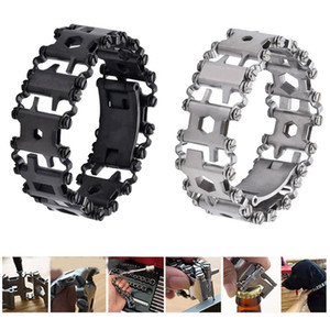 29 in 1 Multifunction Tread Bracelet Outdoor Bolt Driver Tools Kit Travel Friendly Wearable Multitool Stainless Steel Hand Tools Y200321