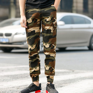 New Mens Camo Cotton Outdoor Combat Tactical Multi-pocket Jogger Pants Men Casual Outdoor Hiking Trousers Working Cargo Pants