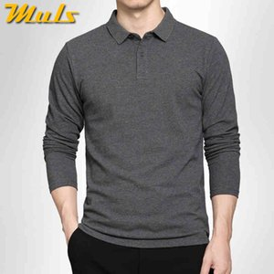 5colors Muls 100 %Cotton Polo Men 2016 New Arrival Long Sleeve Simple Style Casual Mens Polos Black Navy Gray White M -3xl 7171