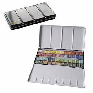 12/24/36/48 Couleurs Pigment Aquarelle Solide Peintures Set Avec Pinceau Aquarelle Pigment Set Art Fournitures