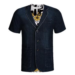 Divertente t-shirt a manica corta di uomini 2019 Casual abbigliamento uomo vacanza maleducato Stag partito Fancy Dress 3D Offensive Boobs Tee