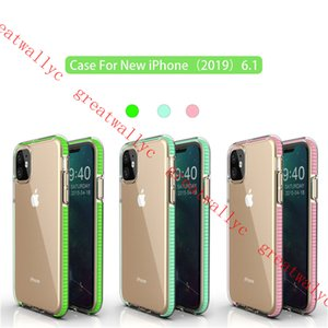2019 mais novo iphone case clear tpu phone case capa dupla cor à prova de choque para iphone 11 xs max xr