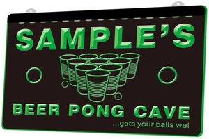 Ls0592 0 اسم شخصية بار البيرة القدح الزجاج حانة RGB متعددة الألوان بعيد 3D تحكم الحفر بقيادة ضوء النيون تسجيل متجر بار حانة نادي