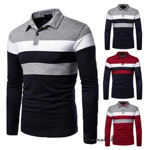 2019 neue Pop-Männer nehmen passendes stilvolles langärmliges Muskel-T-Stück T-Shirt beiläufiges Oberseiten-Blusen-Sommert-shirt ab Freies Verschiffen