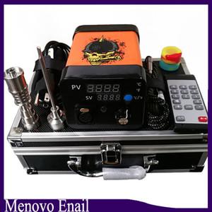 Menovo Elétrica Titainium Dab Pregos Caneta Rig Oil Dax Dabbing PID Caixa TC Com Domeless Coil Heaer Kit Dnail Silicone Pad 0268110-1