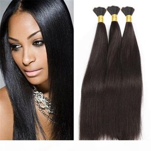 8a Micro mini Braiding Hair Brazilian Bulk Hair For Braiding 3 Bundles Lot 100% Human Straight Brazilian Braiding Hair