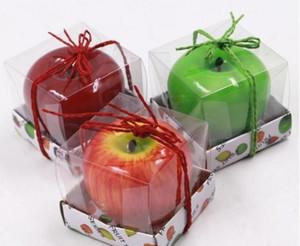 Las velas de la fruta de Apple en forma de velas perfumadas Festival Bouglé Atmósfera romántica decoración del partido la víspera de Navidad Año Nuevo Decoración