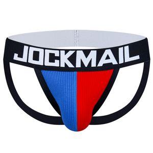 JOCKMAIL العلامة التجارية مثير للرجال أحزمة الوقاية غاي لاعبو الاسطوانات القطن منخفضة الارتفاع أطقم ملابس داخلية لون الصلبة G سلاسل موجز بيكيني عارية الذراعين