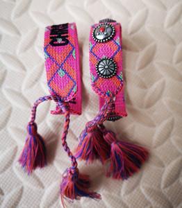 Супер классический набор роскошных хлопчатобумажных плетеных браслетов для запястий или лодыжек подходит как для мужчин, так и для женщин
