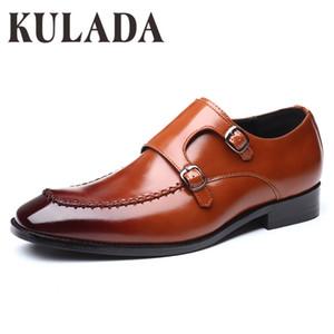 Кулада Новых ботинки Мужчина Бизнес Классического лакированные ботинки Мужчина Оксфорд Мода Формальный Человек платье