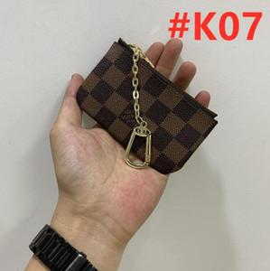 luxury designer Men Women Key Pouch Zip Wallet Coin Leather Wallets leather Key Wallet purse Free shipping