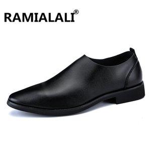 Homens Outono Ramialali Primavera casamento Formal Shoes Homens Dress negócios sapatos mocassins Pointy