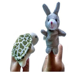 Turtle Rabbit Fun Dolls Cute 2pcs Animal Finger Puppet Plush Story Telling Early Education Toys