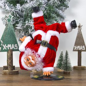 Eléctrica de Santa Claus muñeca Baile del canto de música automático de juguetes de Navidad linda muñeca de la felpa Merry Christmas Decorations GGA2801 caliente
