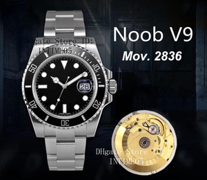 Amazing Discount NoobF Factory V9 Version Watch 40mm 116610 116610LN ETA 2836 CAL.3135 Movement Automatic Wristwatches Mens Watches