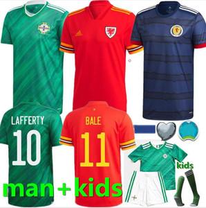 2020 2021 Irlanda del Nord maglie di calcio EVANS LEWIS SAVILLE DAVIS WHYTE Lafferty uomo + kids Scozia Galles Jersey di calcio MAGLIE CALCIO
