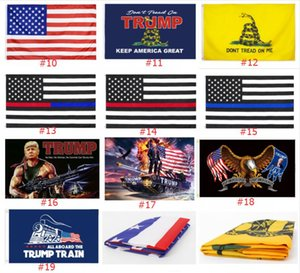 19 Styles Trump Flag Donald Trump Flag Keep America Great Donald for President Campaign Banner 90*150cm Garden Flags DHB276