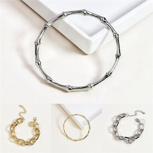 Famous Sterling Alloy Multi Colors Ceramic Five Four Leaf Clover Flower Charm Bracelet For Women Fashion Jewelry Accessories#920