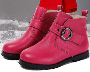 TOP-Qualität 2019 Frau Marke Stiefel aus echtem Leder Besten Qualität spitzen flacher Schuh Stiefelette Martin Stiefel Fashion Stiefel mit Kasten BN40