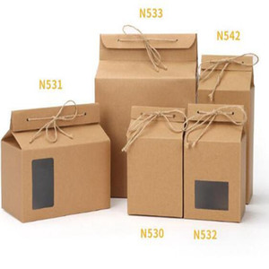 Tea Packaging Cardboard Kraft Paper Bag Folded Food Nut Tea Box Food Storage Standing Up Paper Packing Bag