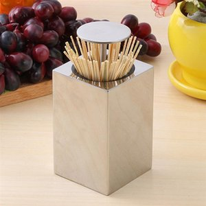 Toothpick Holder Stainless Steel Rustproof Durable Portable Toothpick Can Travel Hotel Toothpick Box Storage Holder