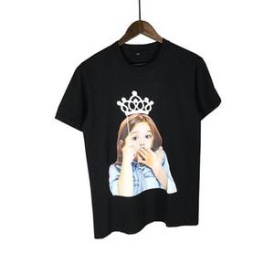 Fashion-Acme de la vie ADLV Baby Face футболка с короной удивленное выражение девушка печать детские мужчины женщины хип-хоп хлопок тройники