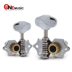 18: 1 Open Gear UK Guitar Locking Tuners Tuning Pegs Head Machine trou central pour guitare classique Ukulélé Chrome