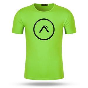 Новые пляжные футболки мужчины высокое качество спортивные рубашки Мужские быстросохнущие беговые фитнес-топы тренажерный зал рубашки человек сухой Fit Running t-shirt Top