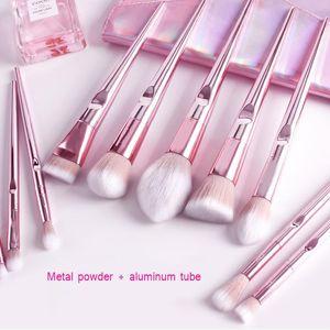 10 Stücke make-Up Pinsel Set Lidschatten Pulver Highlight Sculpting Blush Kosmetische Schönheit bilden Pinsel Set Werkzeuge gute