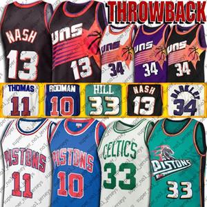 Vintage Steve Charles Nash Barkley forması Larry Grant Kuş Hill'in formaları Dennis Isiah Rodman Thomas basketbol formaları kötü çocuklar çağ