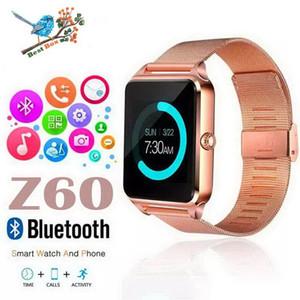 Z60 بلوتوث سمارت ووتش الهاتف الفولاذ الصلب دعم بطاقة sim tf بطاقة اللياقة البدنية تعقب GT09 smartwatch ل ios الروبوت