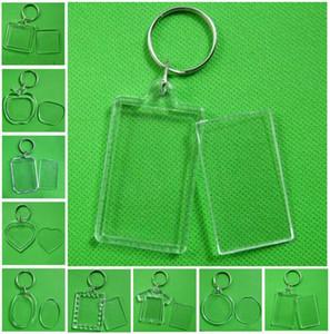 Fotoğraf Çerçevesi Anahtarlık Şeffaf Akrilik Plastik Blank Anahtarlık takın Pasaport Fotoğraf Çerçevesi Anahtarlık Resim Çerçevesi Anahtarlık Parti Hediye DHA450