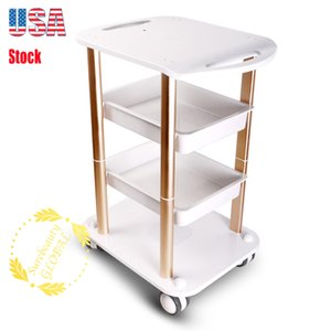 Factory Price Beauty Machine Trolley Stand White Beauty Spa Salon Trolley Rolling Cart Furniture For Salon Machine Equipment