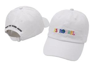100 % 면화 Astroworld 야구 모자 Travis Scott Unisex Astroworld 아빠 모자 모자 고품질 자수 남자 여름 모자