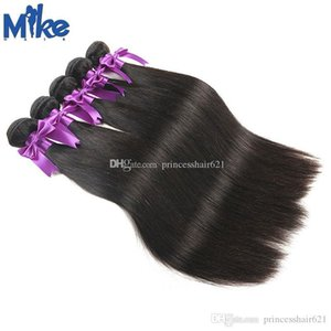 MikeHAIR Natural Straight Cheap Hair Weaves 5Pcs 8-30Inches Brazilian Malaysian Peruvian Indian Human Hair Extensions Queen Hair Products