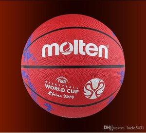 Erimiş FIBA Çin 2019 Basketbol Dünya Kupası basketbol boyutu 7 Kırmızı Ejderha desen kauçuk aşınmaya dayanıklı oyun basketbol topu B7C1600