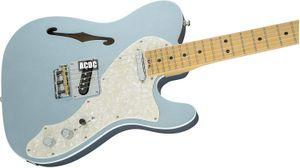 Özel Mağaza ABD Elite Tele Hattı Mistik Buz Mavi Elektro Gitar Beyaz İnci Pickguard, Tek bobin Boyun Pickup, 3 Pirinç Eyer Köprüsü