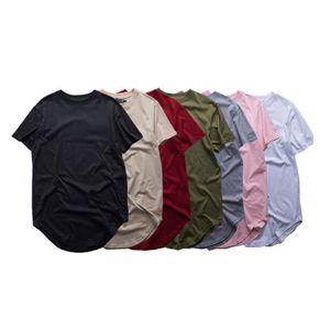 Fashion Men Extended T Shirt Longline Hip Hop Tee Shirts Men Women Swag Clothes Harajuku Rock Tshirt