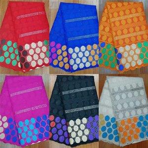 Самый новый дизайн пунш Африканская хлопчатобумажная кружевная ткань высококачественная швейцарская вуаль Африканская хлопчатобумажная кружевная ткань для вечернего платья 5 ярдов!LYF856