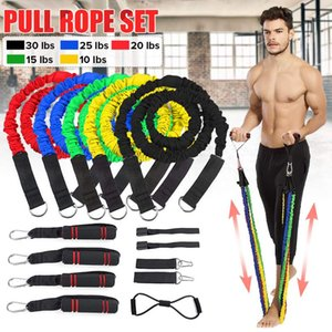 20 Pcs set Latex Resistance Bands Home Gym Training Body Exercise Yoga Tubes Pull Rope Chest Expander Pilates Fitness with Bag