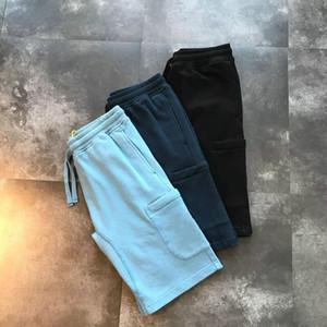 2019 Mens schließt Strand klassische beiläufige Hosen feste Farbe mit Buchstaben Stickerei lose fünf Hosen Sommer wesentlichen Reiselaufhose
