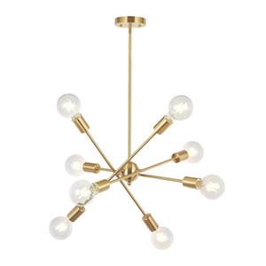 8 Işıkları Ayarlanabilir Arms ile Modern Sputnik Avize Aydınlatma Orta Yüzyıl Kolye Işık Bağbozumu Endüstriyel Çiftlik Tavan Işık