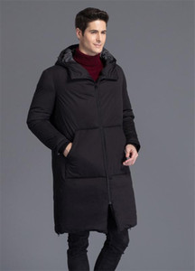 Parka Plus Hombre Size 2020 Men's Winter Jackets Thick Hooded Male Coat White Duck Down Jacket Men Black Coats WXF190