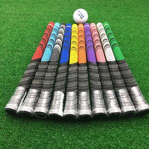 13pcs / lot Golf Grips tamanho padrão Multicompound Grips Para Golf motorista Grips Golf Clubs Borrachas Preto Branco Azul Vermelho 4 cores