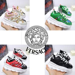 vendita calda bambini Reazione a catena di lusso del progettista ragazzi dei pattini casuali neonati Moda marchio mix sneaker Multi Clash Animalier scarpe outdoor 26-37