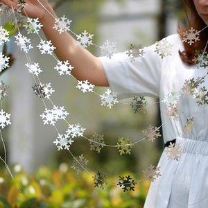 4 M Twinkle Yıldız Kar Tanesi Kağıt Garlands Kolye Süsler Noel Süslemeleri Ev Yeni Yıl Noel Aksesuarları için Navidad 2019